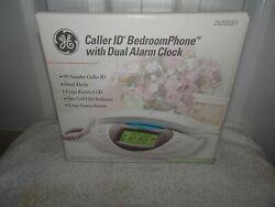 NOS GE CALLER ID BEDROOM PHONE WITH DUAL ALARM CLOCK 29292GE1