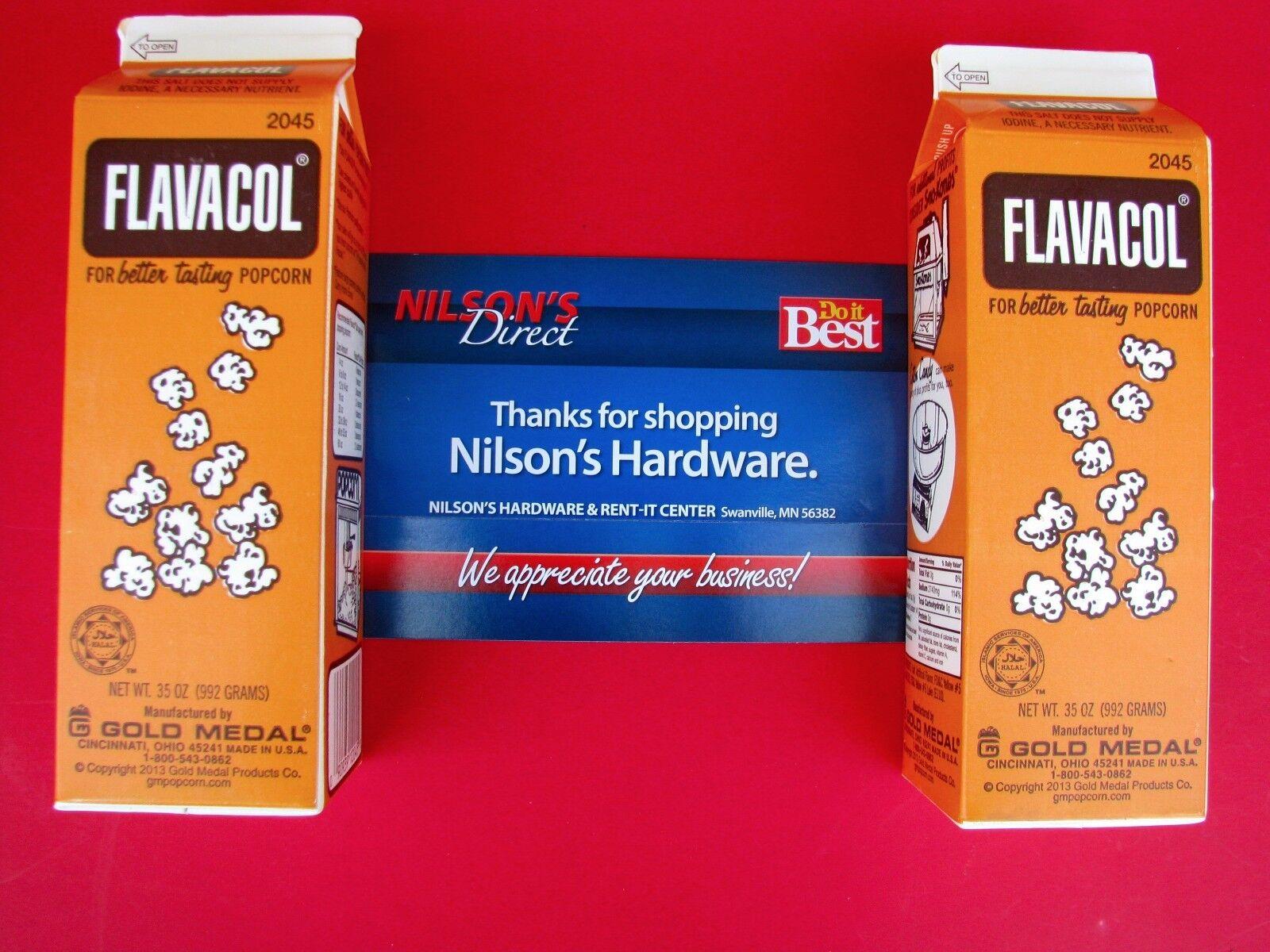 2pk Flavacol Seasoning Popcorn Pop Corn Salt Ingredient Yellow Color Apeal 2045