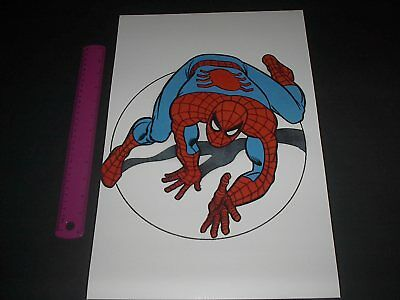 MARVEL COMICS SUPER-HEROES WEB SLINGING SPIDER-MAN PIN UP OLD SCHOOL STYLE