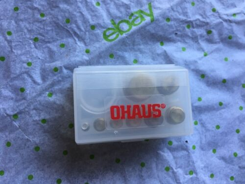 Ohaus 241-03 scale test weight, 8 pieces in plastic storage case
