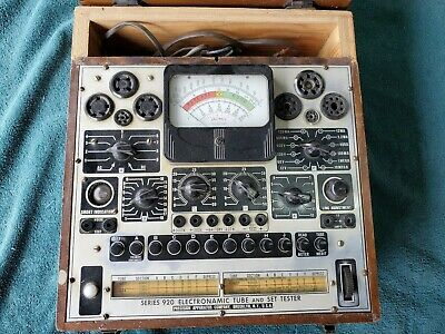 Rare Vintage Precision Apparatus Electronamic Tube And Set Tester Series 920