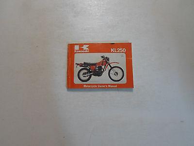 1979-1980 Kawasaki KL250 Motorcycle Owners Booklet Manual FACTORY 79 80 x