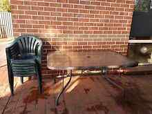 Free  - outdoor table & chairs - must pick up. Peakhurst Hurstville Area Preview