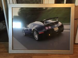 Large Bugatti Veyron picture frame