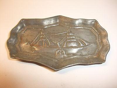 a Puppenstube Kaufmannsladen altes Tablett Schale Vorlegeplatte Untersetzer 1900