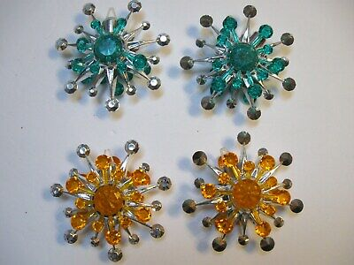 Plastic Snowflakes Bulk (4 Sputnik Plastic Snowflake Starburst Christmas Ornaments)