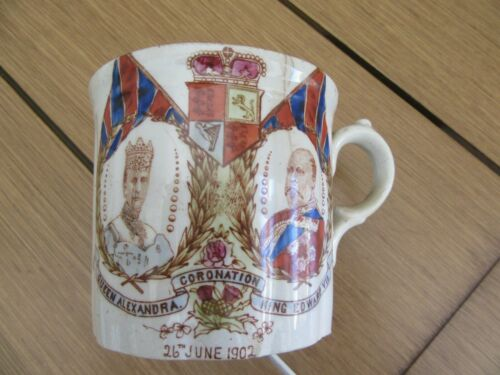 Collectible Historical Royalty England Coronation Mug 1901, Edward and Alexandra