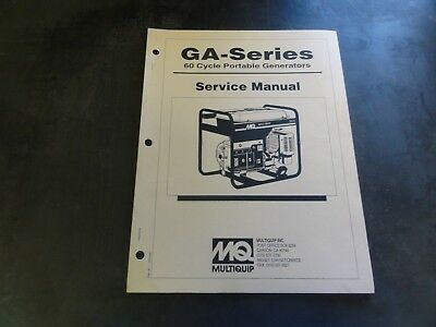 Multiquip Ga-series 60 Cycle Portable Generators Service Manual