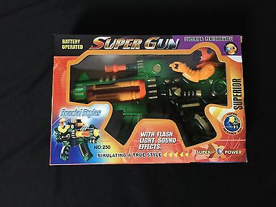 Light Up Machine Gun Military Toy Army Rifle Kids Moving Barrel LED Tommy Pistol - Kids Toy Guns