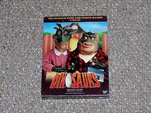 Dinosaurs-The-Complete-Third-amp-Fourth-Seasons-4-Disc-DVD-2007-Box-Set-Brand-New