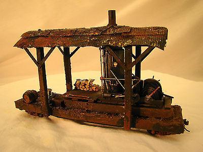 On30 Logging Steam Donkey - custom weathered - metal wheels - lot 2