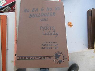 Caterpillar Vintage Parts Bookcatalog 8s 8u Bulldozer