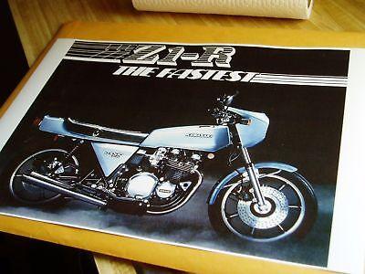Z1R POSTER KAWASAKI KZ1000 D KZ 1000 Z1-R THE FASTEST 1978 LTD Z1 MKII Z1900 TC for sale  Spencerport