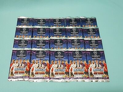 Topps Match Attax Champions League 2018/2019 20 Booster  120 Trading Cards 18/19