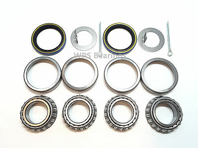 Trailer Wheel Bearing Seals - Trailer Hub Wheel Bearing Kit L44649 Seal 1.500'' for 2000# Axle Spindle 1.063''