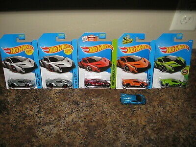 Hot Wheels Lot of 6 Lamborghini Veneno Speed Team Exotics