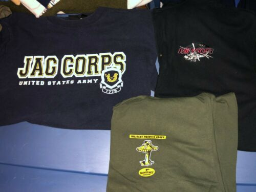 3 Different US Army JAG Corps Mushrooms Helicopter Shirts Large