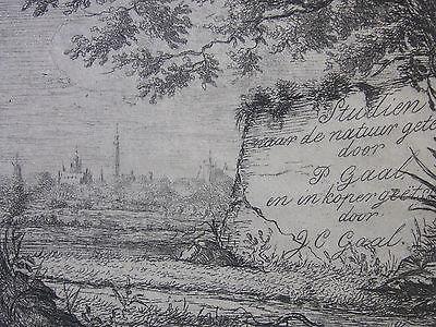 J. C. GAAL ´MIDDELBURG, ZEELAND, TITEL, TITLE´ P. GAAL, H.&L. 15, RADIERUNG 1854