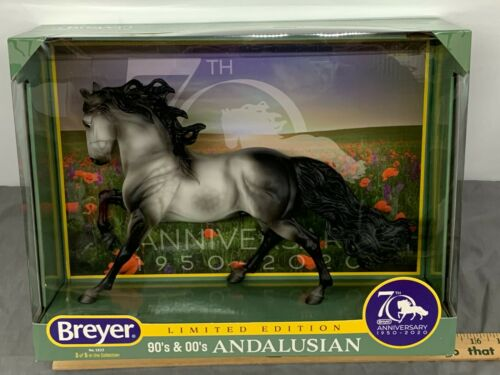 Breyer 70th Anniversary ANDALUSIAN Limited Edition #1825 NIB Sharp!