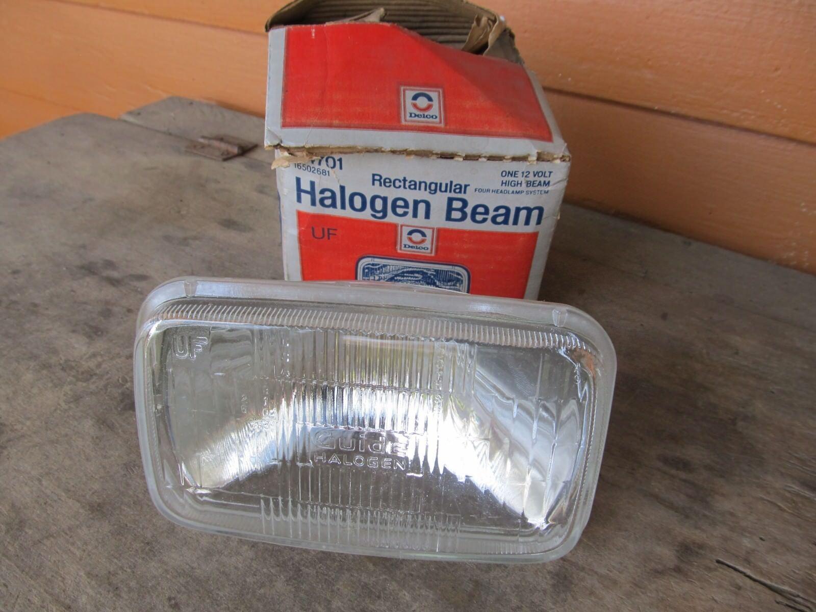 NOS AC Delco H4701 Rectangular Halogen Headlight GM# 16502681