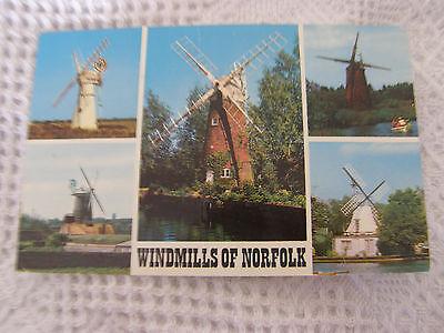 Postcard, Winmills of Norfolk, 1970s, Colourmaster