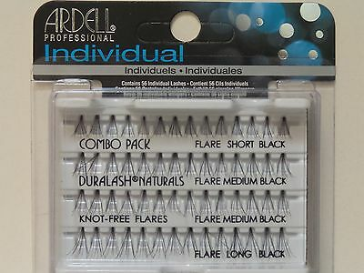 (LOT OF 3) Ardell Duralash Naturals Flare COMBO PACK Individual Eyelashes Ardell Individual Eyelashes Flare