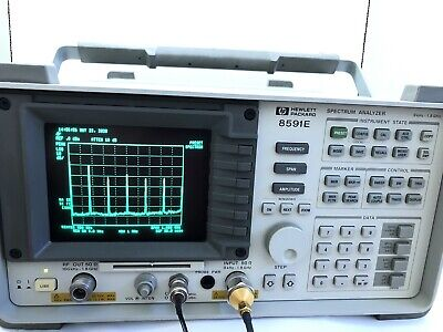 Hp 8591e Spectrum Analyzer Sa 9khz-1.8ghz Options 010 Tg 021. Tested Excellent