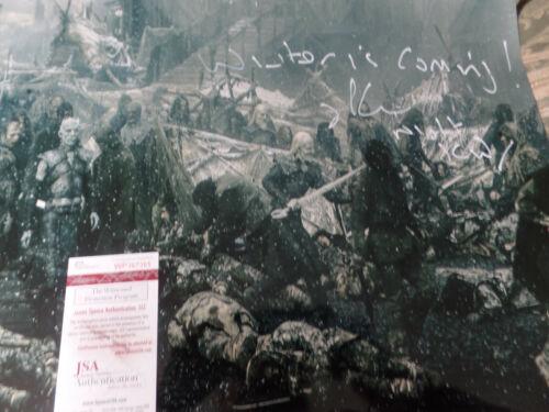 Game of Thrones Night King  Richard Blake autographed 16x20 photo JSA Certified