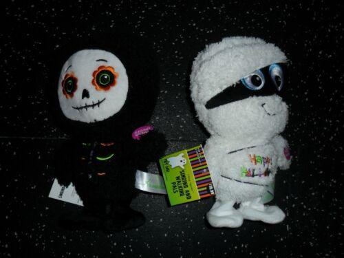 New 2020 Gemmy Halloween Animated Dancing & Walking Mummy & Candy Skeleton Lot