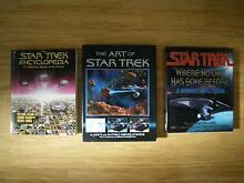 3 STAR TREK BOOKS SCIENCE FICTION MOVIES SCIFI FANTASY STARTREK Malvern East Stonnington Area Preview