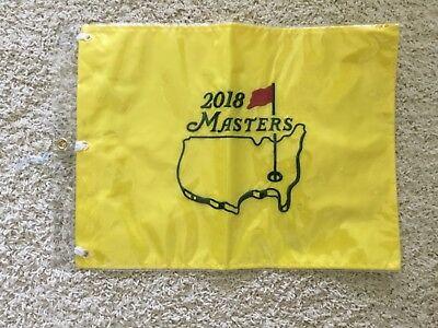 2018 Masters Augusta National Georgia Golf Pin Fahne Bestickt Neu Pga