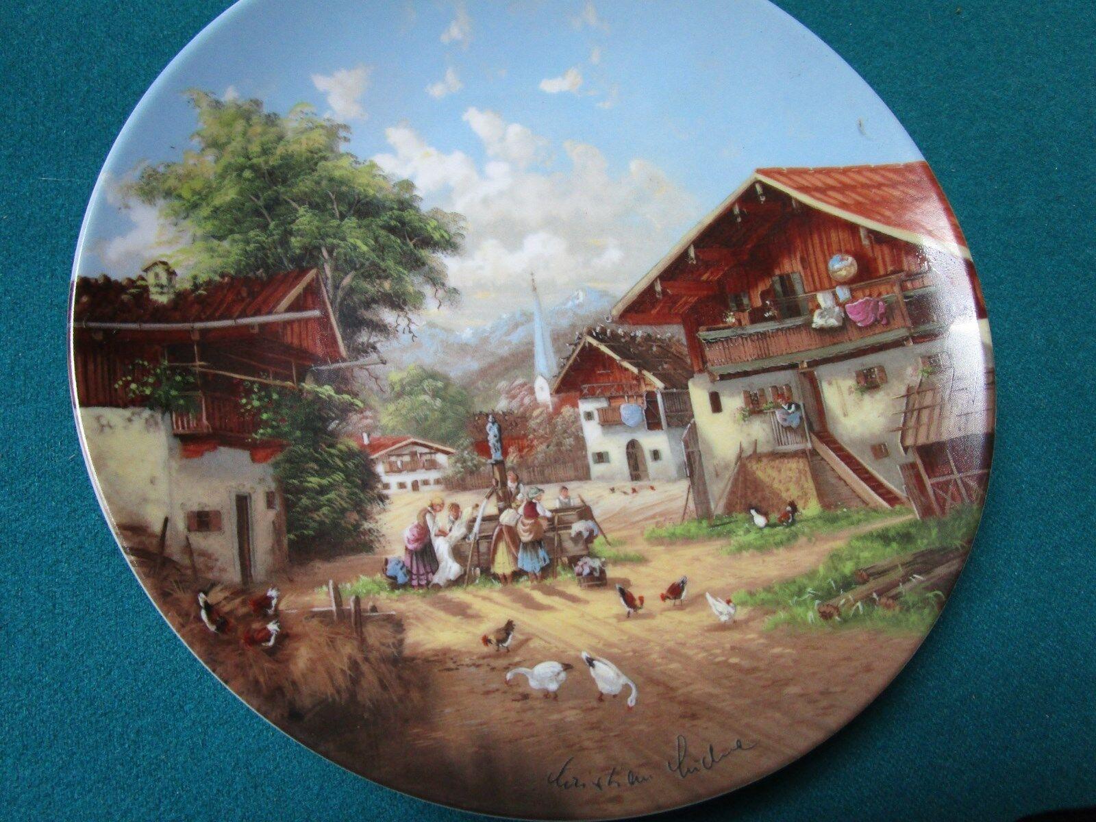 seltmann weiden 8 collector plates christian luckel 39 s idyllic village life 6 ebay. Black Bedroom Furniture Sets. Home Design Ideas