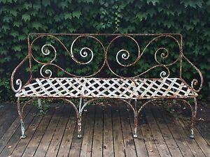 Metal garden bench Northbridge Willoughby Area Preview
