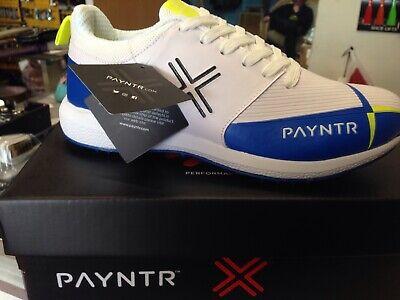 Payntr cricket shoes White & Blue Size 12 Blue Cricket