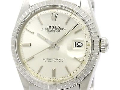 Vintage ROLEX Datejust 1603 Stainless Steel Automatic Mens Watch (BF306047)