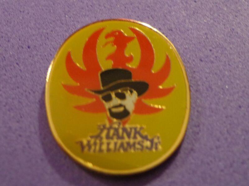 Hank Williams jr Vtg Tour Pin Brockum Licensed Metal Enamel Pinback Country HWJ