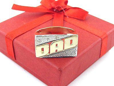 14K Yellow Gold Diamond DAD Ring Size 11