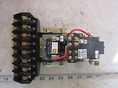 Square D 8903 LXO80 8P 120V Coil Lighting Contactor, Used