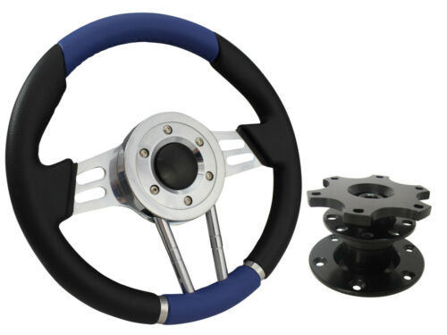 QUICK RELEASE BLUE V2 SPORTS STEERING WHEEL 310mm 6x70mm,