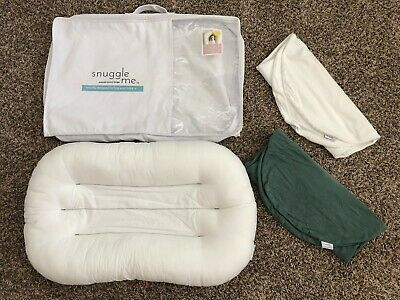Snuggle Me Organic Infant Lounger plus two Covers & case