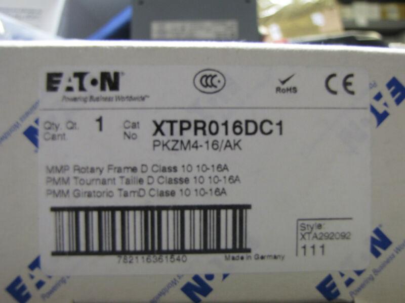 Eaton Cutler Hammer Klokner Moeller XTPR016DC1 contactor PKZM4-16/AK