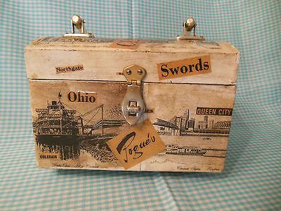 Vintage Style Box Purse Decoupage Handbag Jewelry Cincinnati Poque's Ads
