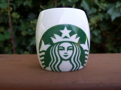 Starbucks Mug Cup 2010 Mermaid Logo  Demitasse Demi 3 oz Espresso