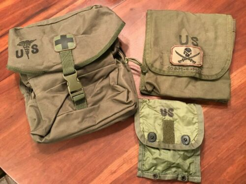 Military Case Medical Instrument and Supply Set No. 3 Pouch 6545-00-180-6239