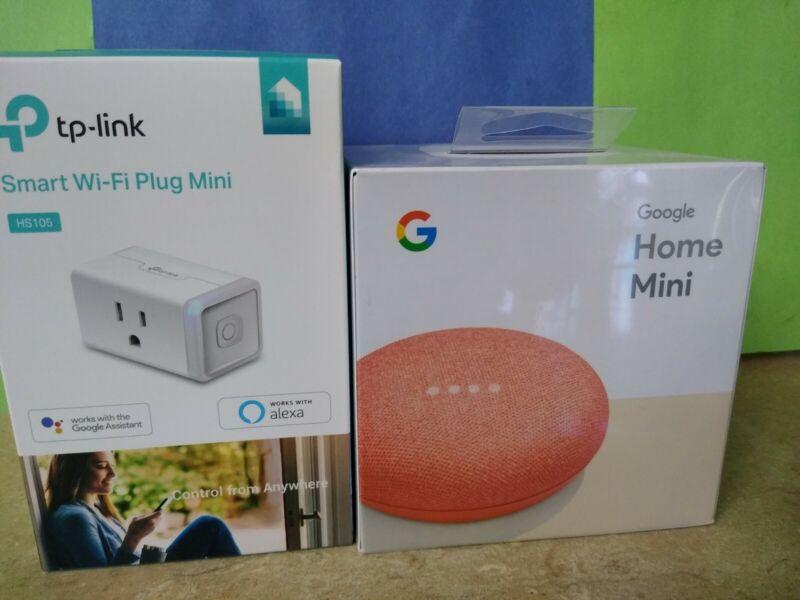 Brand New Amazon Echo Dot + Tp-link Smart Plug Mini Hs105 + free mask