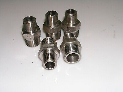 5x 34 Male Npt X 12 Male Npt Stainless Hex Reducer Nipple Parker