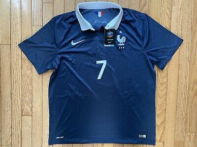 Franck Ribery Nike 2014 France Authentic Soccer Futbol Jersey Mens XL World Cup image