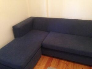Free lounge, double bed, hanger, roller drawers and side table. Hurstville Hurstville Area Preview