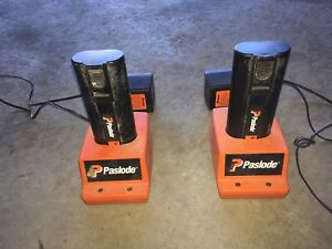 Paslode batteries and chargers