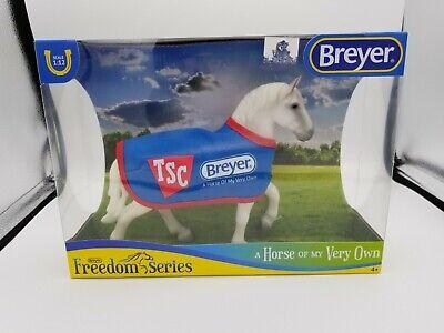 BREYER TSC Exclusive Classic Grey Percheron Draft Horse with blanket #5479 [NP]